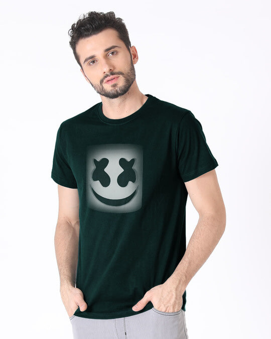 Shop Mask Of Marshmello Half Sleeve T-Shirt-Full