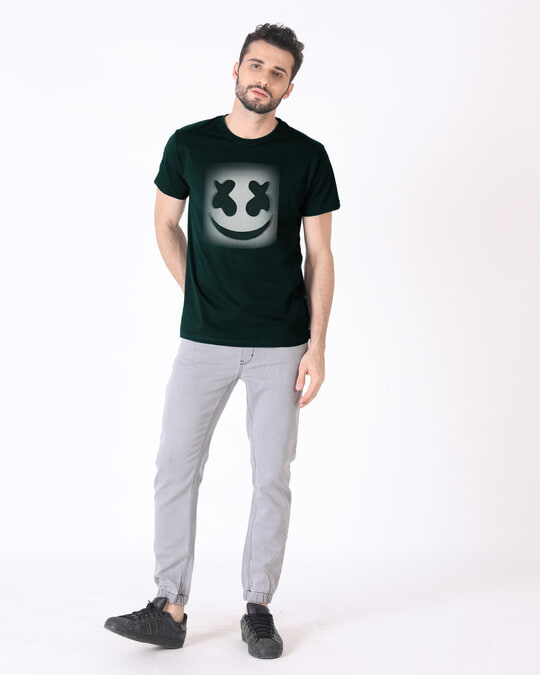 Shop Mask Of Marshmello Half Sleeve T-Shirt