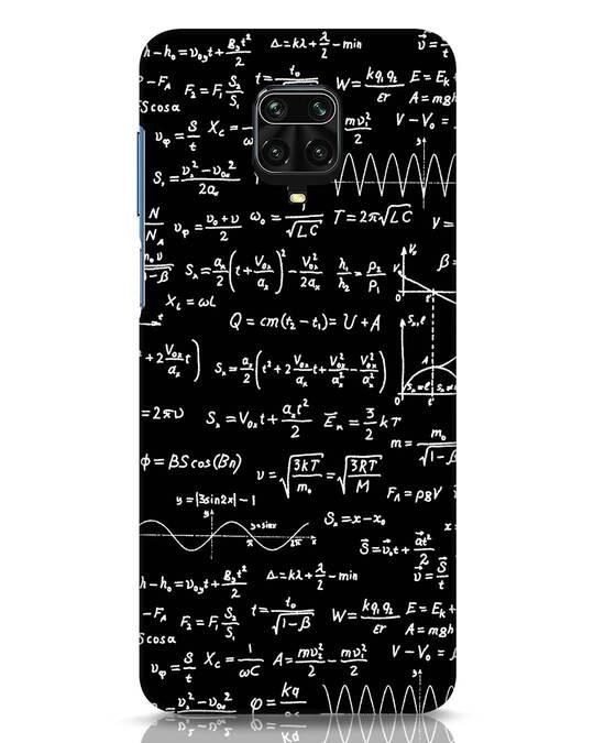 Shop Maths Xiaomi Redmi Note 9 Pro Mobile Cover-Front