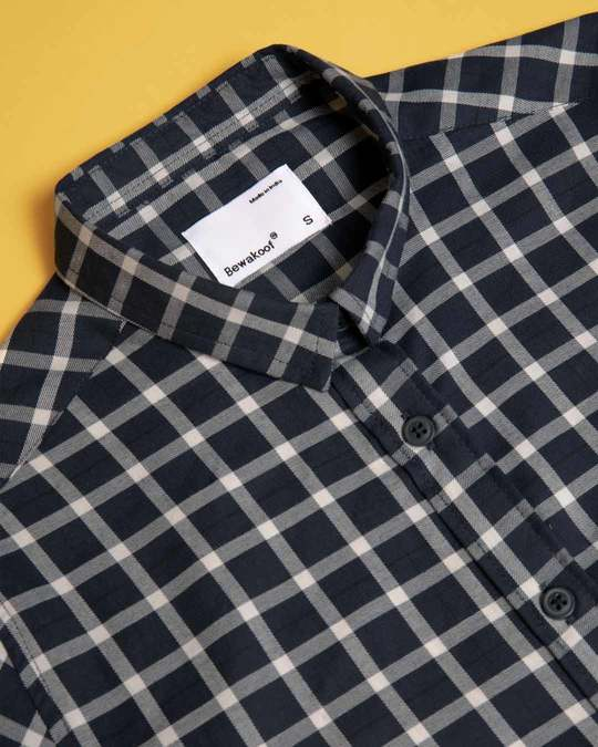 Shop Mauve Blue Check Slim Shirt