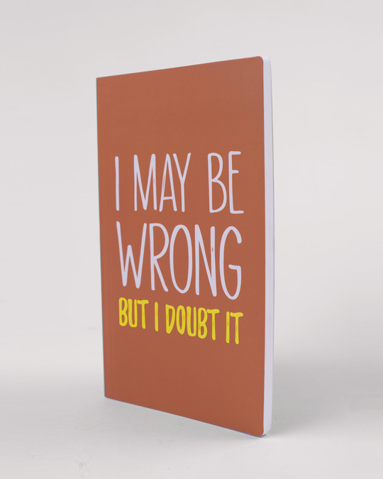 Shop Maybe Wrong Notebook-Back