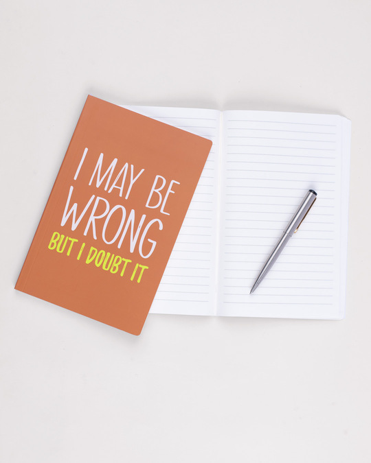 Shop Maybe Wrong Notebook-Design