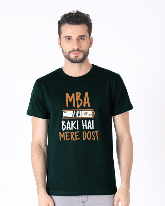 Shop Mba Abhi Baki Hai Half Sleeve T-Shirt-Back