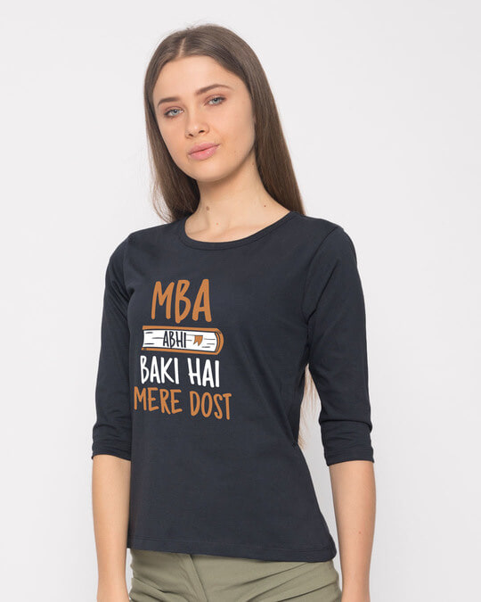 Shop Mba Abhi Baki Hai Round Neck 3/4th Sleeve T-Shirt-Back