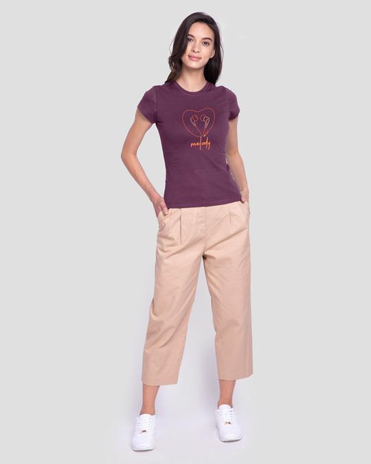 Shop Melody Heart Half Sleeve T-Shirt-Design