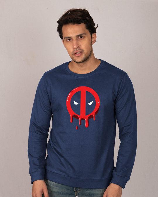 Shop Melting Deadpool Fleece Light Sweatshirt (DPL)-Front