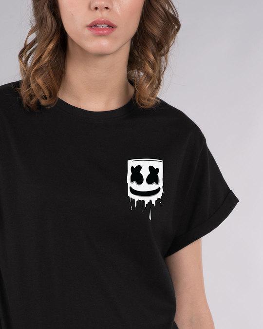 Shop Melting Mello Boyfriend T-Shirt-Front