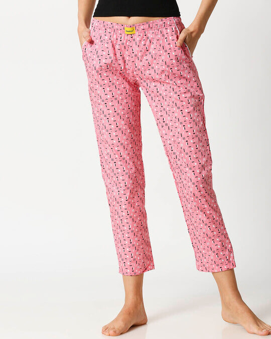 Shop Memphis Pattern All Over Printed Pyjama-Front