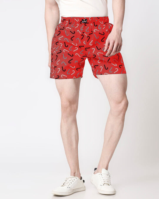 Shop Men All Over Printed Boxers-Front
