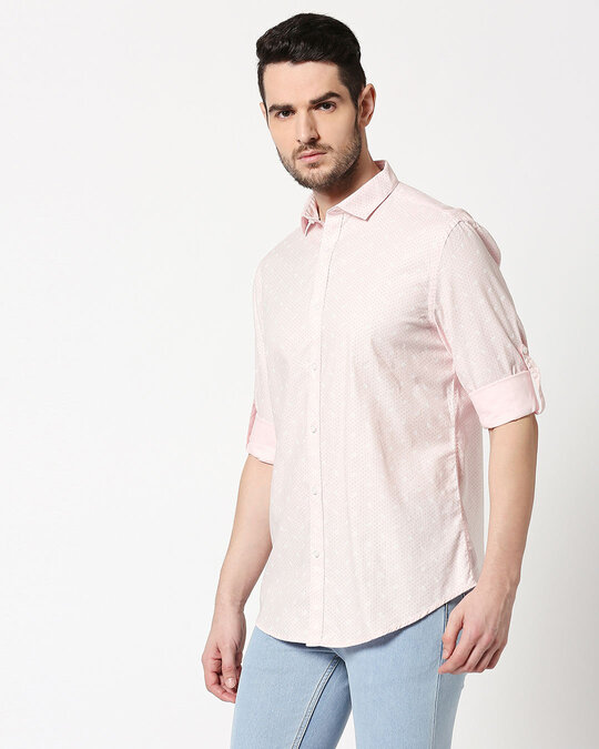 Shop Men AOP Slim Fit Casual Shirt-Design
