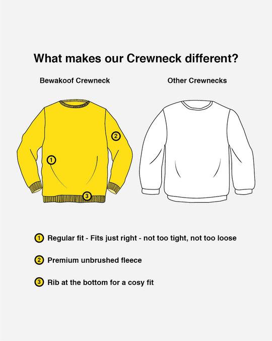 Shop Jet Black Crew Neck Sweatshirt-Design