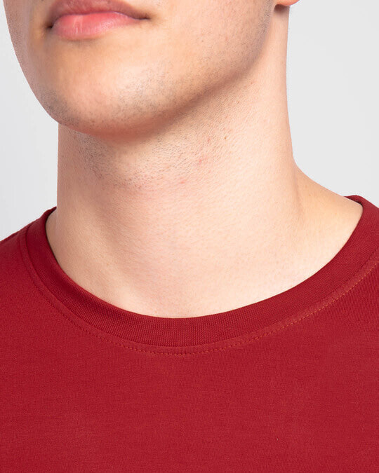 Shop Men's Plain Full Sleeve T-Shirt Pack of 2 (Bold Red)
