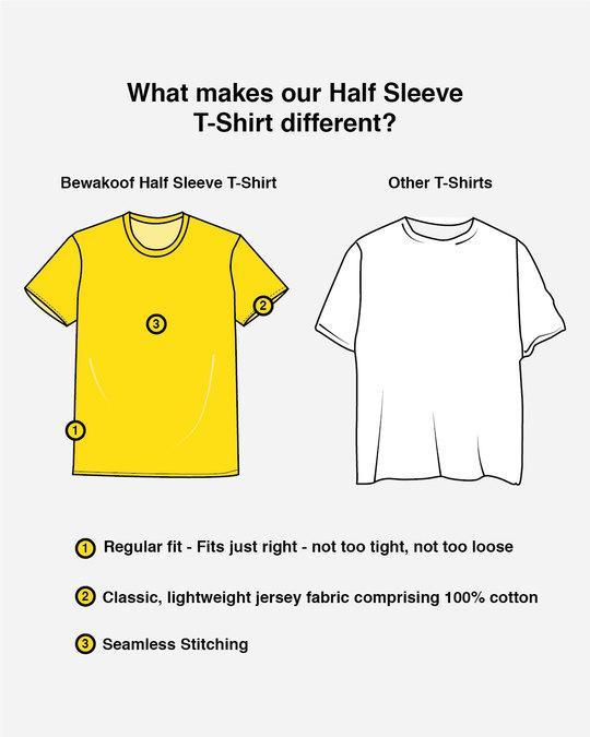 Shop Garfield Allergic To Mondays Half Sleeve T-Shirt (GL)-Design