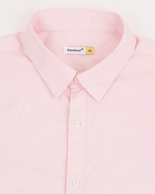 Shop Men Pink Poplin Lycra Slim Fit Casual Shirt