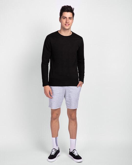 Shop Men Plain Full Sleeve T-Shirt Pack of 3 (Black, Grey & White)