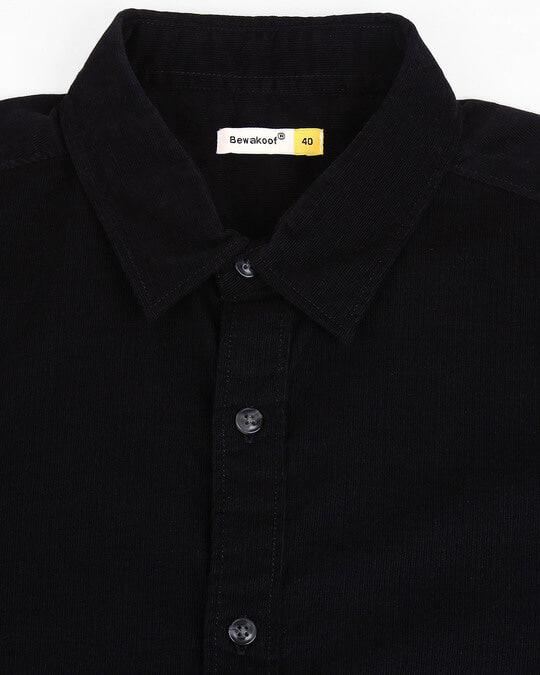 Shop Men's Black Casual Slim Fit Corduroy Shirts