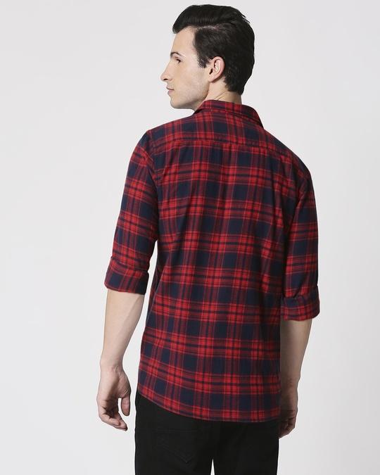 Shop Mens Checks Double Pocket Shirt-Full