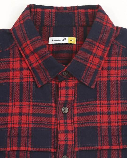 Shop Mens Checks Double Pocket Shirt