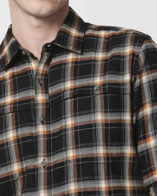 Shop Mens Checks Double Pocket Shirt