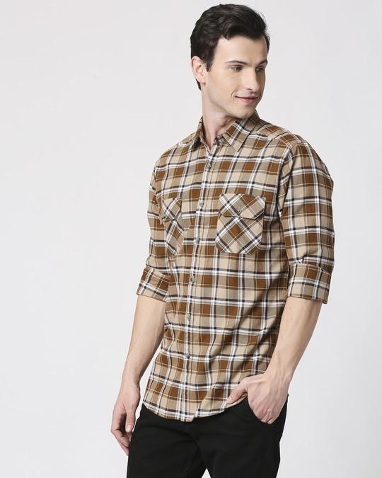 Shop Mens Checks Pocket Casual Shirt-Design