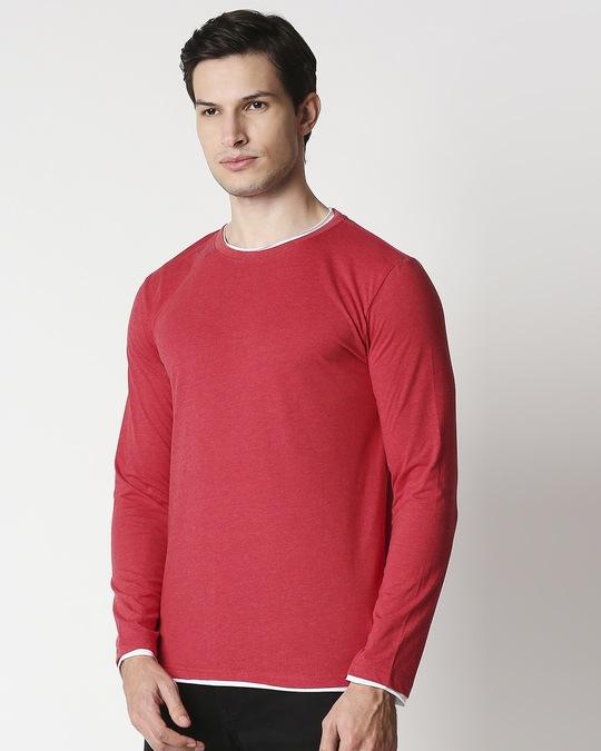 Shop Chili Pepper Melange Raw Edge T-Shirt-Design