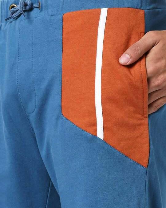 Shop Men's Color Block Pocket Panel Short