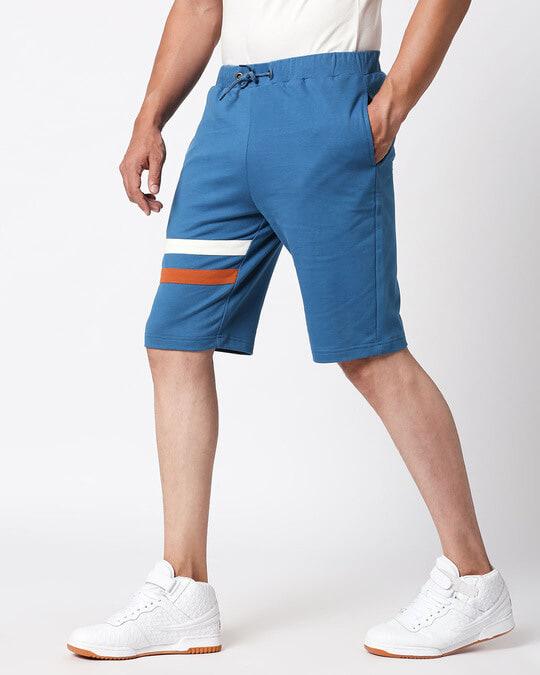 Shop Digi Teal Sport Trim Short-Full