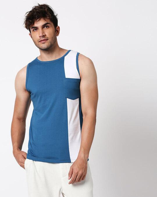 Shop Digi Teal Colorblock Pocket Vest-Design