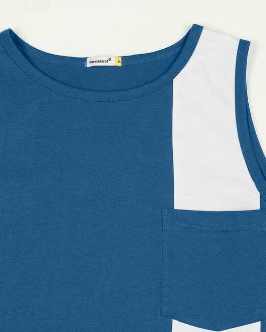 Shop Digi Teal Colorblock Pocket Vest