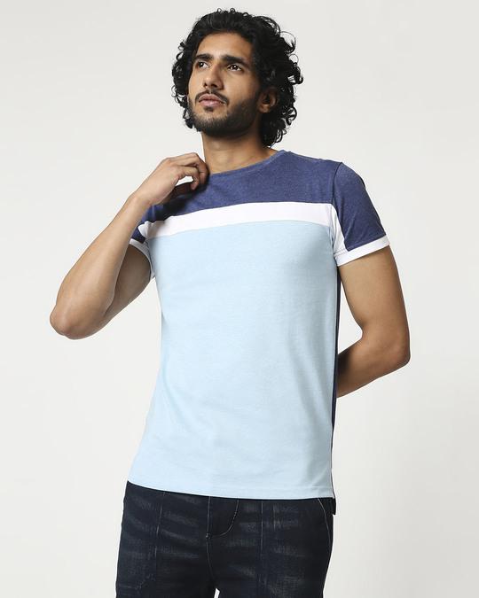 Shop Men's Cut & Sew Melange T-Shirt-Front