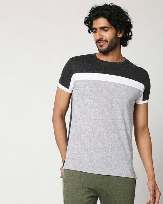 Shop Men's Cut & Sew Melange T-Shirt-Back
