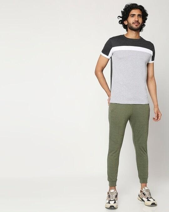 Shop Men's Cut & Sew Melange T-Shirt