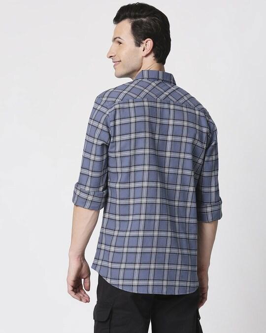 Shop Mens Checks Pocket Casual Shirt-Full