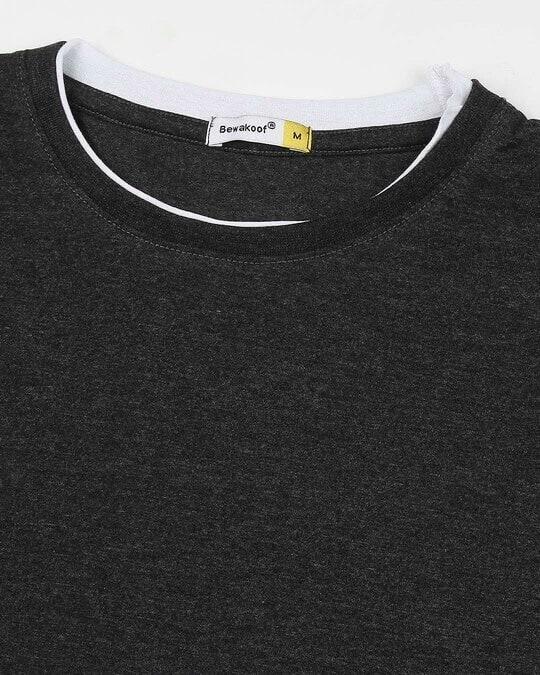 Shop Anthra Melange Raw Edge Full Sleeve T-Shirt