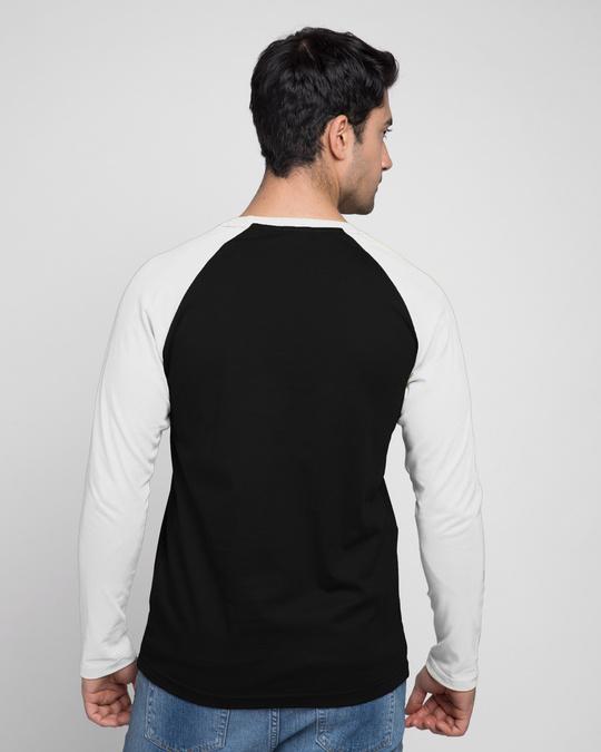 Shop Men's Full Sleeve Raglan T-Shirt (Black & White)-Design