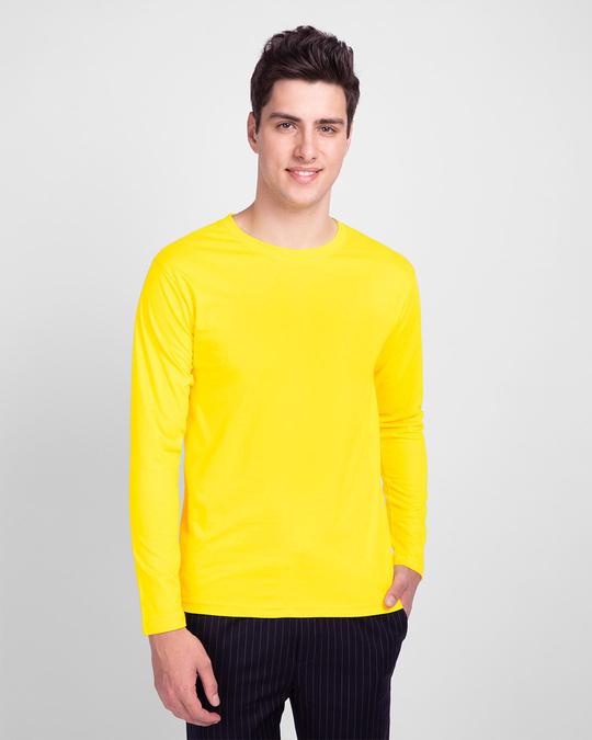 Shop Men's Full Sleeve T-Shirt Pack of 3(Tropical Blue,Bold Red & Pineapple Yellow )-Full