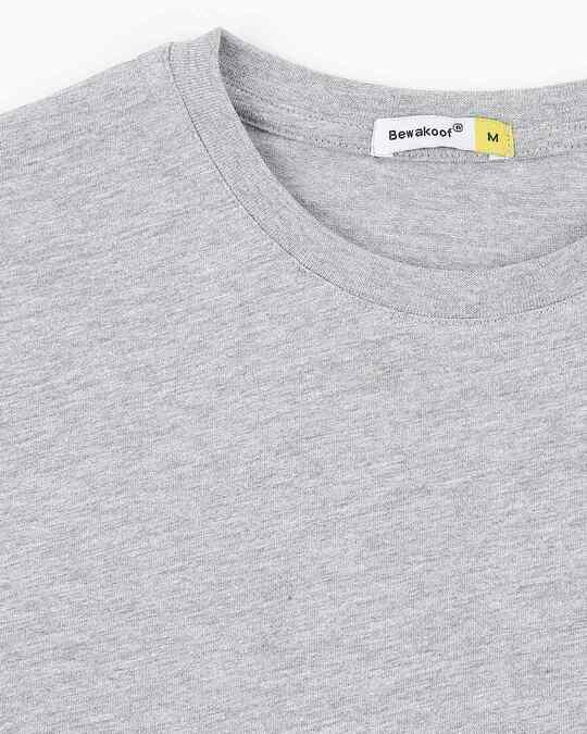Shop Men's Half Sleeve Grey Melange Pocket T-Shirt