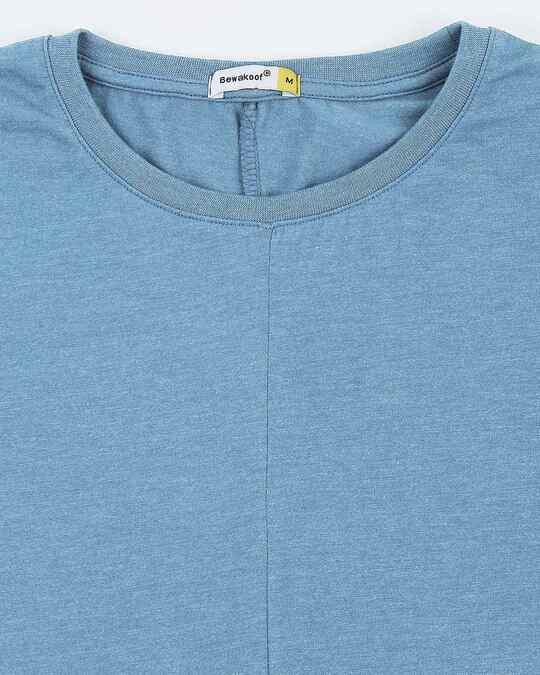 Shop Men's Half Sleeve Melange Cut & Sew T-Shirt