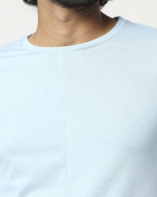 Shop Men's Half Sleeve Melange Cut & Sew T-Shirt