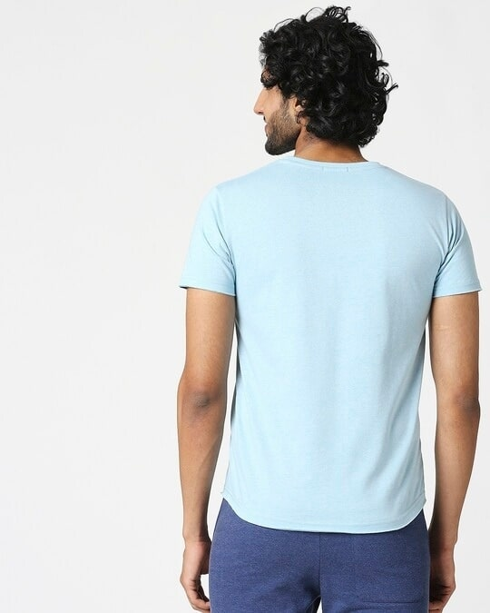 Shop Men's Half Sleeve Melange Pocket T-Shirt-Full