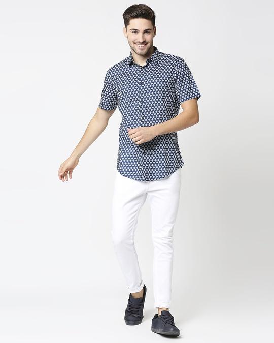 Shop Men's Printed Indigo Shirt