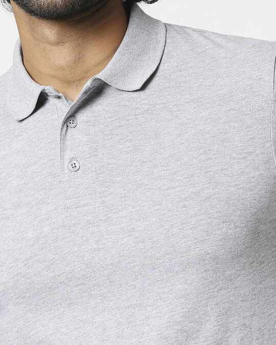 Shop Men's Melange Polo T-Shirt