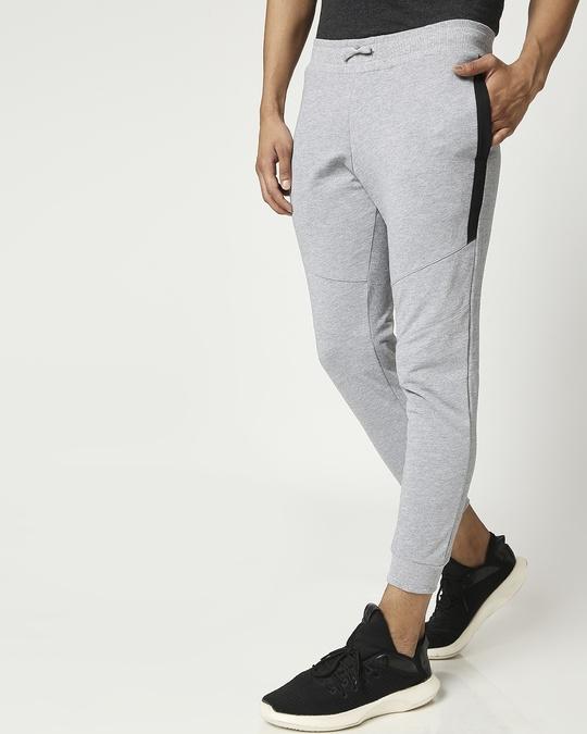 Shop Men's Melange Zipper Joggers-Design