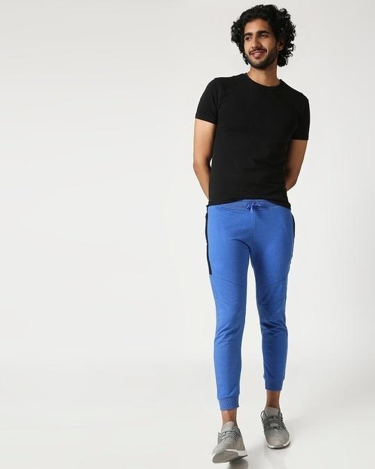 Shop Men's Melange Zipper Joggers