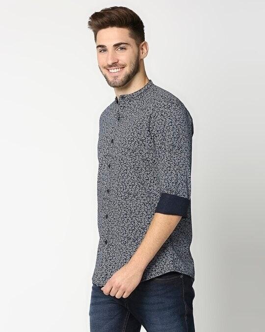 Shop Navy AOP Blue Shirt-Design