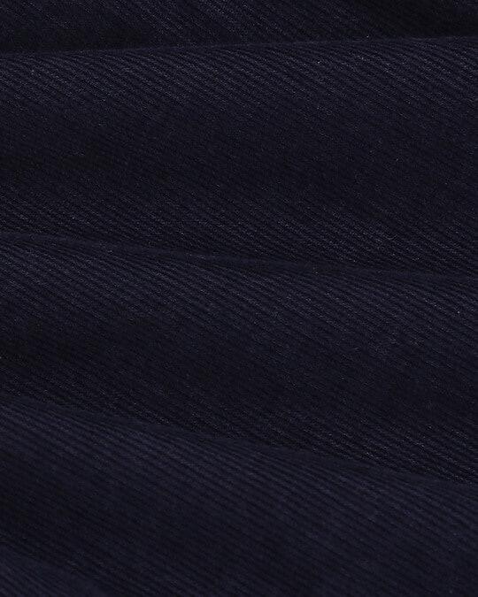 Shop Men's Navy Casual Slim Fit Corduroy Shirts