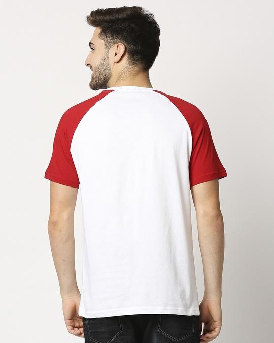 Shop White-Chili Pepper Raglan Half Sleeves T-Shirt-Full