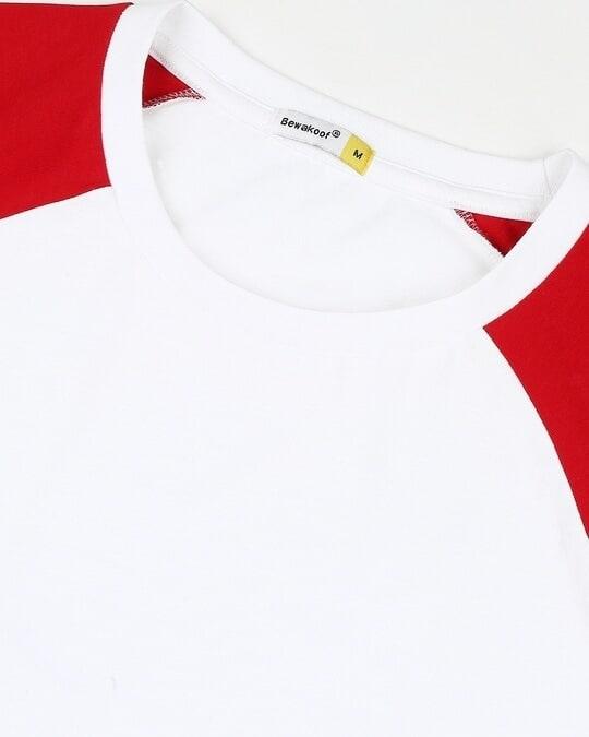 Shop White-Chili Pepper Raglan Half Sleeves T-Shirt