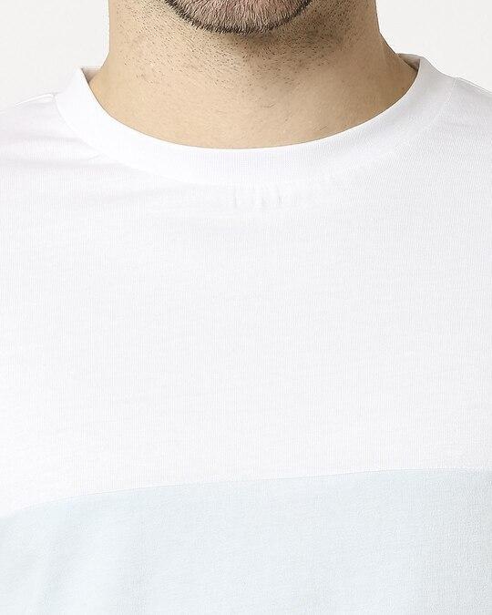 Shop White Candy Color Block T-Shirt