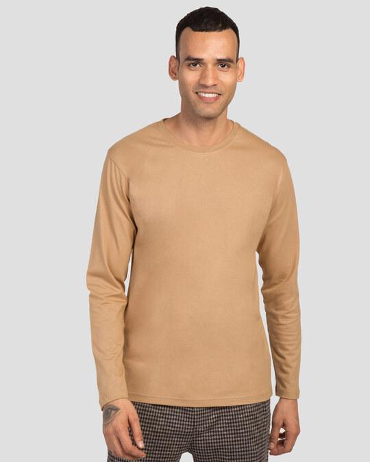 Shop Men's Plain Full Sleeve T-shirt Pack of 2(Black & Brown)-Design